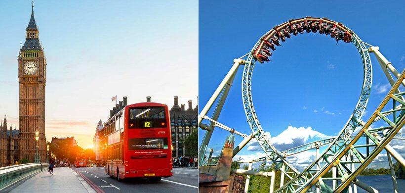 City break Londra si Aventura la Thorpe Park! 158 Eur (zbor, cazare 3 nopti, mic dejun si intrare parc distractii)