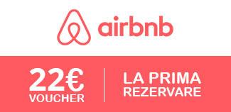 Ai 22 euro credit la prima rezervare, daca iti faci un cont nou pe Airbnb
