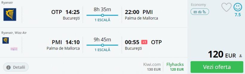O saptamana de vacanta in Mallorca! 240 euro/pers. (zbor si cazare)