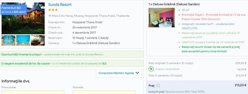 Vacanta in Thailanda, Krabi! 519 euro/pers. (zbor cu bagaj de cala si cazare 10 nopti)