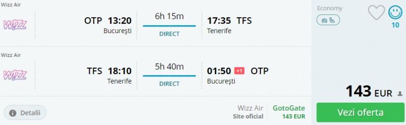 URGENT! Tenerife in plina vara, 248 euro! (zbor direct si cazare 7 nopti)