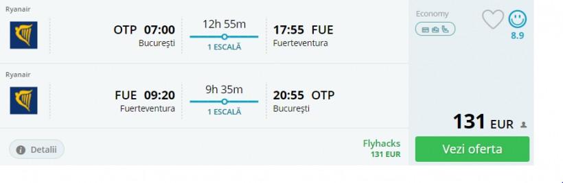 O saptamana in Fuerteventura, 232 euro! (zbor si cazare)