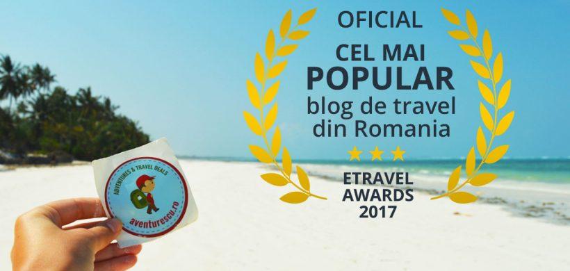 Aventurescu, cel mai popular blog de travel din Romania in 2017