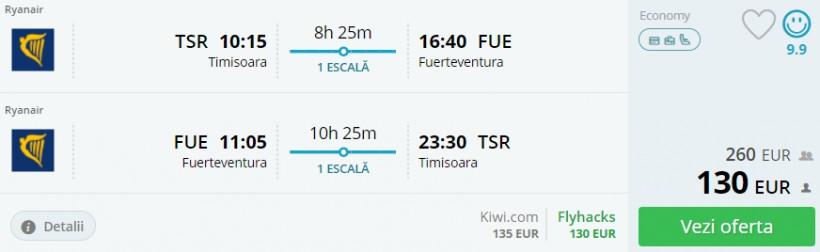 Vacanta de 1 Decembrie in Fuerteventura! 263 euro (zbor si cazare 7 nopti)