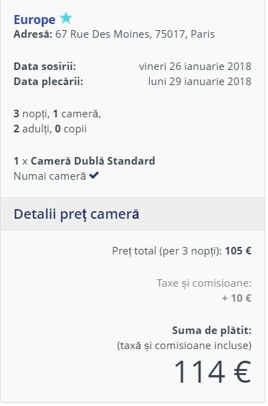 City break in Paris, 103 euro! (zbor si cazare 3 nopti)