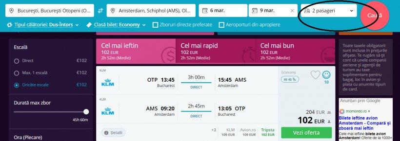 Tarife promotionale la zboruri catre Amsterdam cu KLM, 102 euro dus-intors!