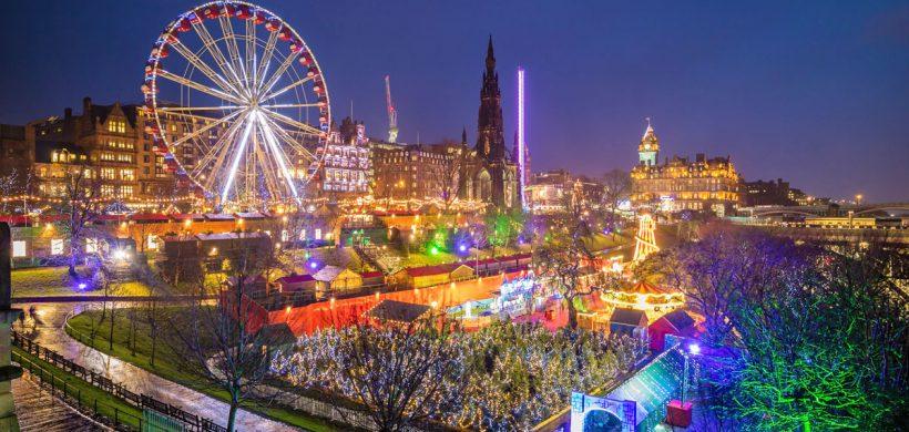 Piata de Craciun din Edinburgh, 108 euro! (zbor si cazare)